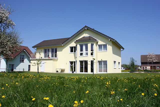 Our house with surrounding garden